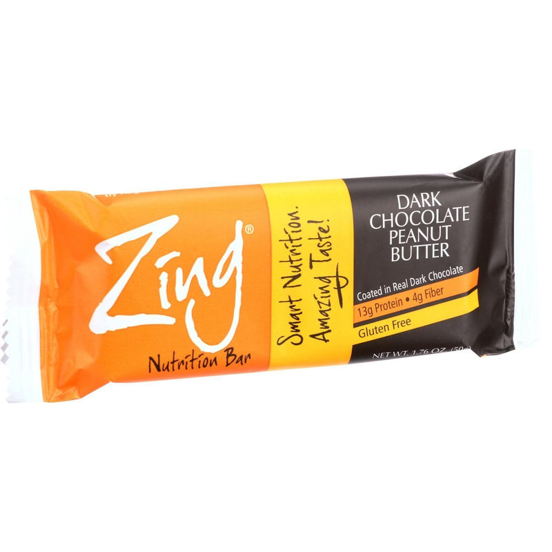 Zing Bars - Nutrition Bar - Chocolate Peanut Butter - 1.76 oz Bars - Case of 12