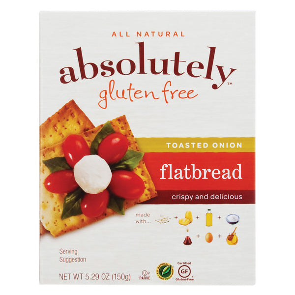 Absolutely Gluten Free Flatbread - Toasted Onion - Case of 12 - 5.29 oz.