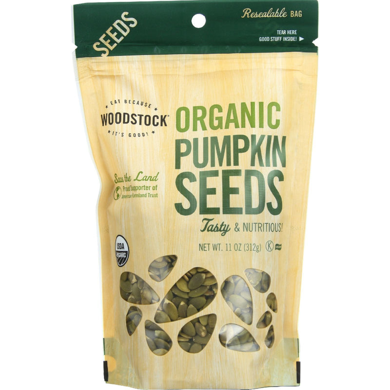 Woodstock Organic Pumpkin Seeds - Case of 8 - 11 oz.