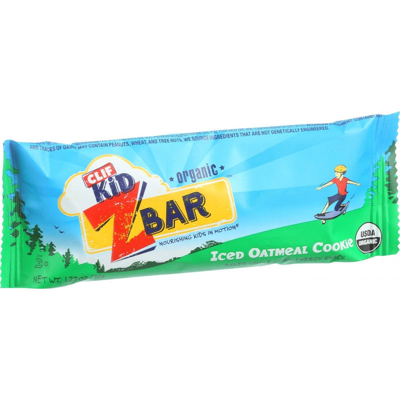 Clif Bar Organic Clif Kid Zbar - Iced Oatmeal Cookie - Case of 18 - 1.27 oz Bars