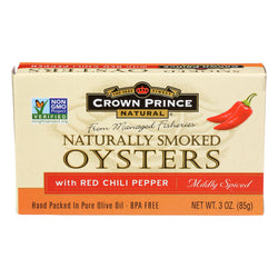 Crown Prince Oysters - Smoked with Red Chili Pepper - Case of 18 - 3 oz.