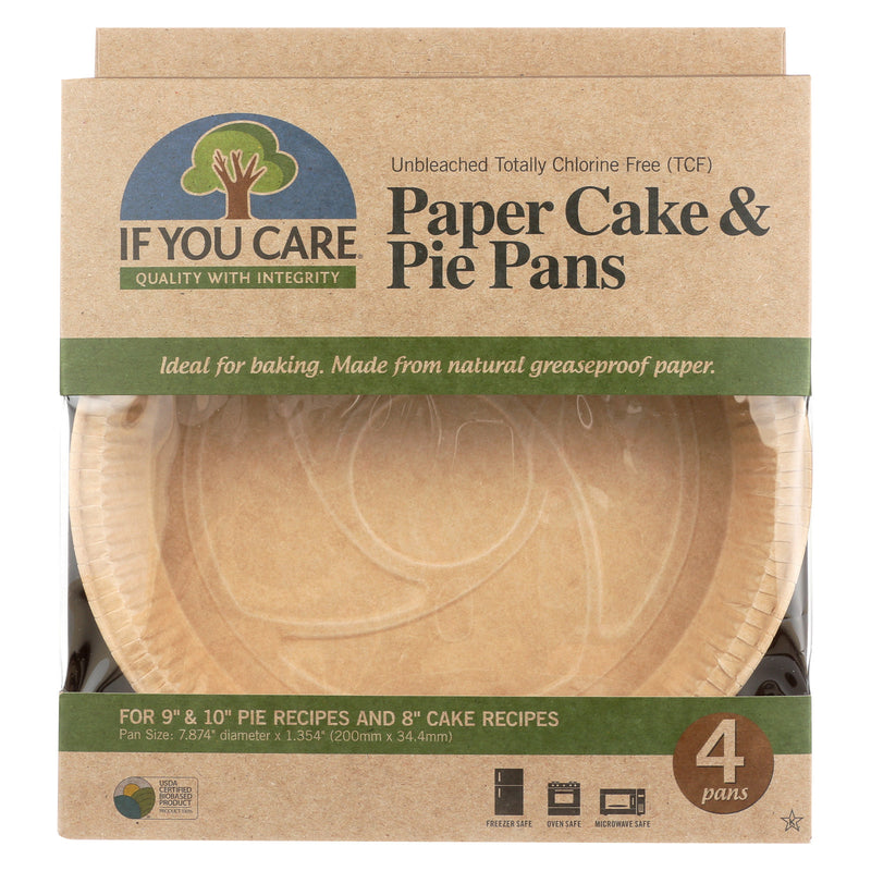 If You Care Pie Baking Pans - Paper Cake - Case of 6 - 4 Count