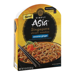 Simply Asia Singapore Street Sesame Ginger Noodle Bowl - Case of 6 - 9.24 oz.