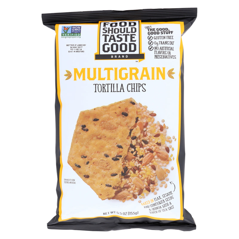 Food Should Taste Good Multigrain Tortilla Chips - Multigrain - Case of 12 - 5.5 oz.