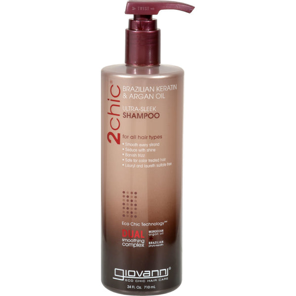 Giovanni Hair Care Products Shampoo - 2Chic Keratin and Argan - 24 fl oz