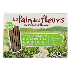 Le Pain Des Fleurs Organic Crisp Bread - Buckwheat - Case of 6 - 4.41 oz.
