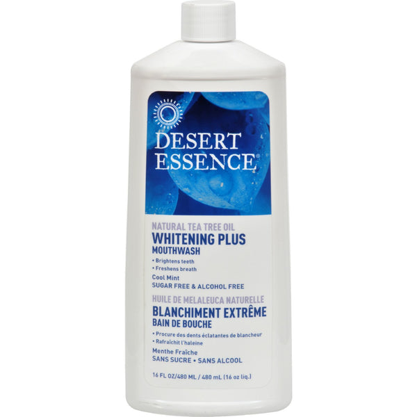 Desert Essence - Mouthwash - Tea Tree Whitening Mint - 16 fl oz
