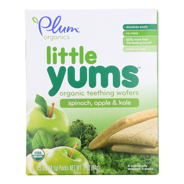 Plum Organics Little Yums - Spinach, Apple and Kale - Case of 6 - 0.5 oz.