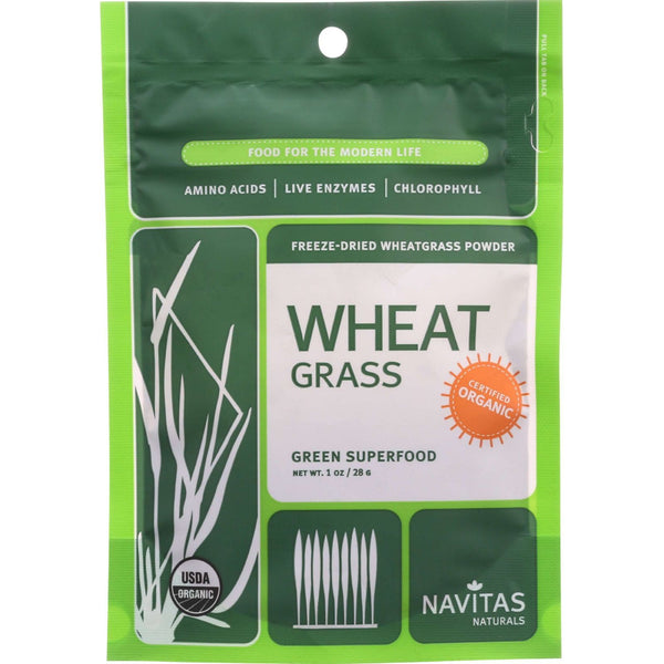 Navitas Naturals Wheat Grass Powder - Organic - 1 oz - case of 6