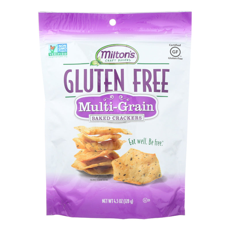 Miltons Gluten Free Baked Crackers - Multi Grain - Case of 12 - 4.5 oz.
