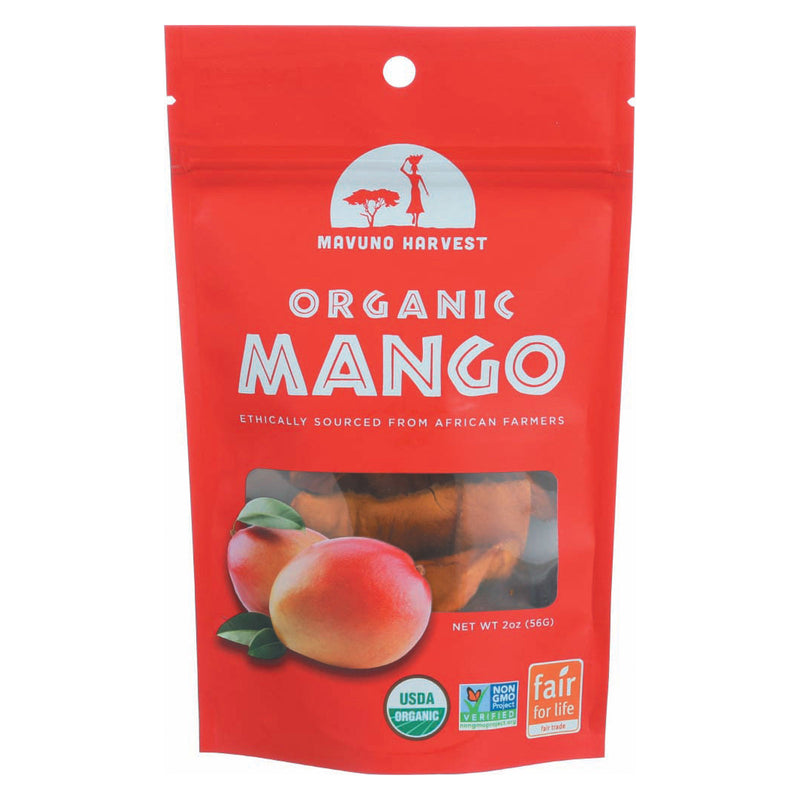 Mavuno Harvest - Organic Dried Fruit - Dried Mango - Case of 6 - 2 oz.