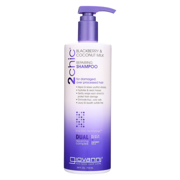 Giovanni 2Chic Repairing Shampoo - Blackberry and Coconut Milk - 24 Fl oz.