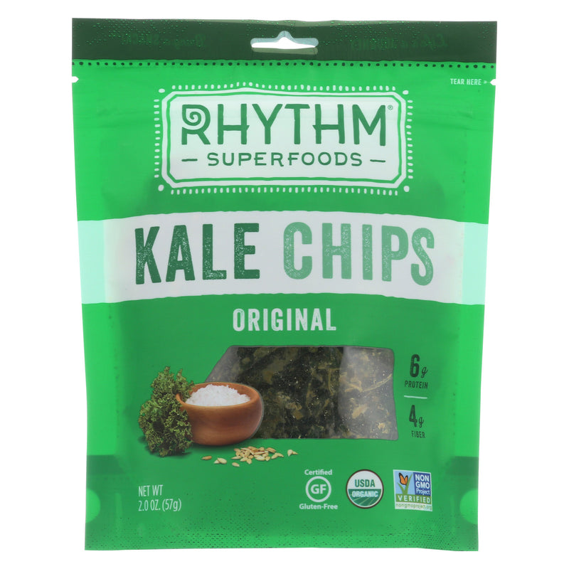 Rhythm Superfoods Kale Chips - Original - Case of 12 - 2 oz.