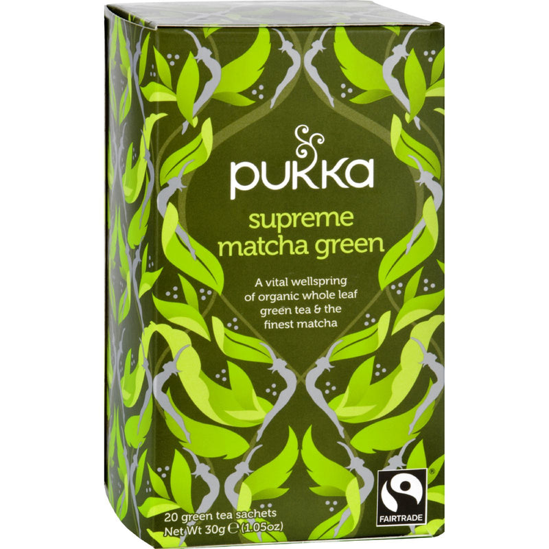Pukka Herbal Teas Tea - Organic - Green - Supreme Matcha - 20 Bags - Case of 6