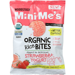 Woodstock Rice Bites - Organic - Mini Me's - Strawberry Yogurt - 2.1 oz - case of 8