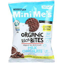 Woodstock Rice Bites - Organic - Mini Me's - Milk Chocolate - 2.1 oz - case of 8
