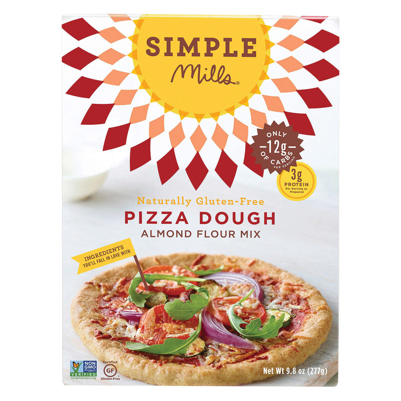 Simple Mills Almond Flour Pizza Dough Mix - Case of 6 - 9.8 oz.