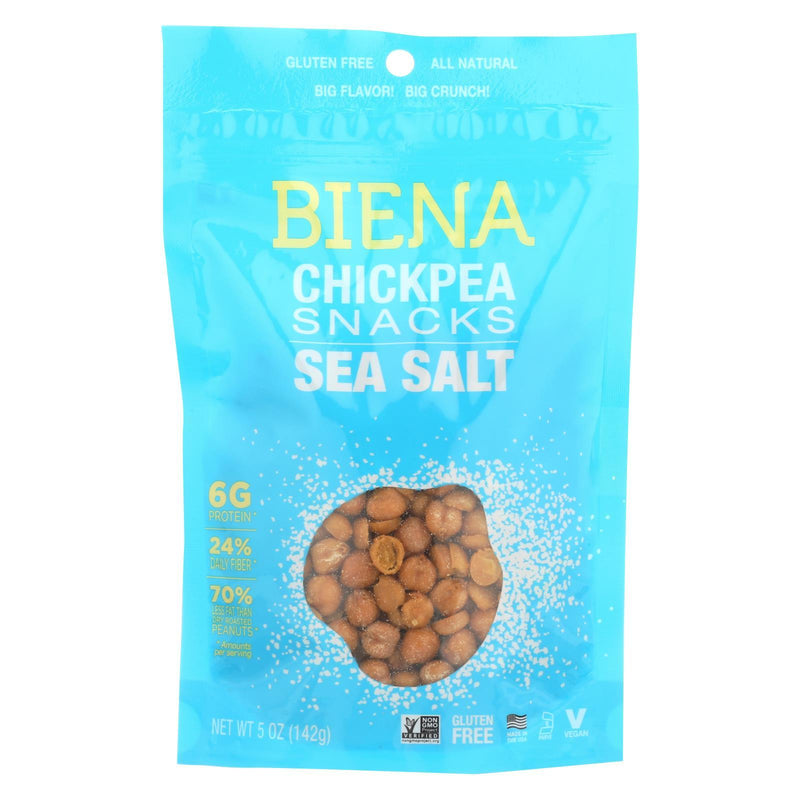 Biena Chickpea Snacks - Sea Salt - Case of 8 - 5 oz.