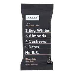 RxBar - Protein Bar - Chocolate Sea Salt - Case of 12 - 1.83 oz.
