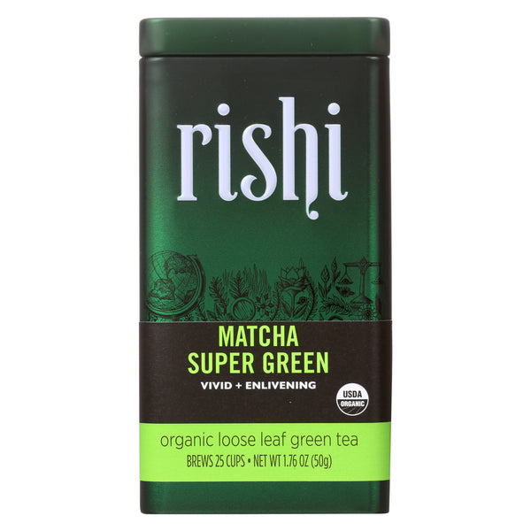 Rishi - Organic Loose Leaf Tea - Matcha Super Green - Case of 6 - 1.76 oz.