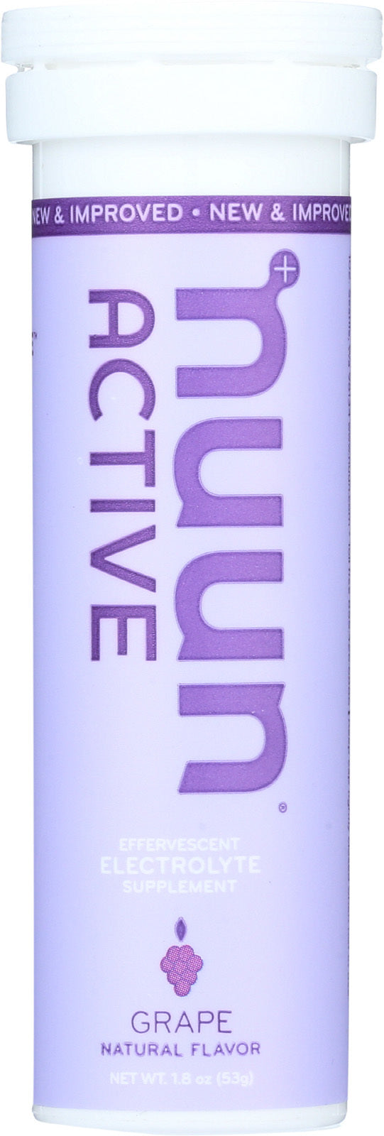 Nuun Hydration Drink Tab - Active - Grape - 10 Tablets - Case of 8