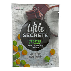 Little Secrets Dark Chocolate Candies - Toasted Coconut - Case of 8 - 5 oz.