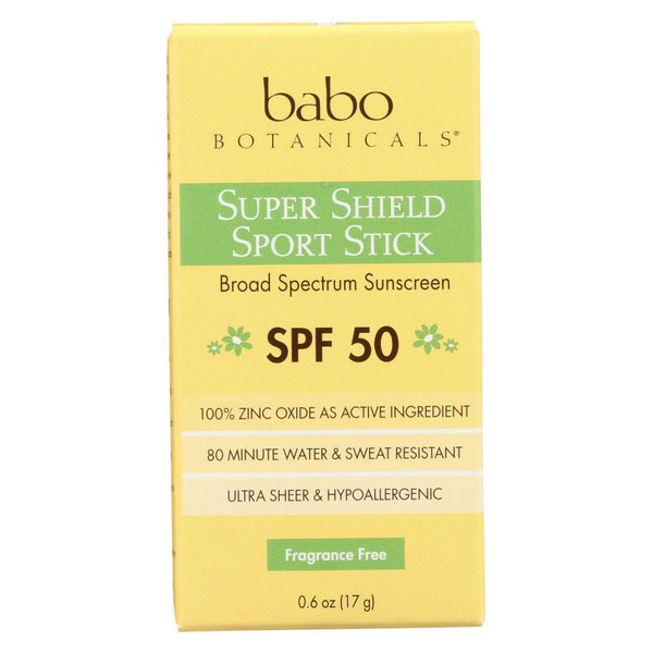 Babo Botanicals - Sunscreen - Fragrance Free - Case of 1 - .6 fl oz.