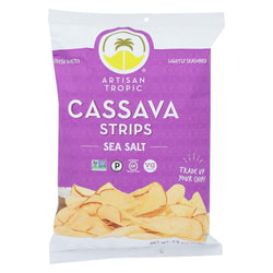 Artisan Tropic Cassava Strips - Sea Salt - Case of 12 - 4.5 oz.