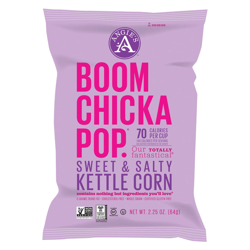 Angie's Kettle Corn Boom Chicka Pop Sweet and Salty Popcorn - Case of 12 - 2.25 oz.