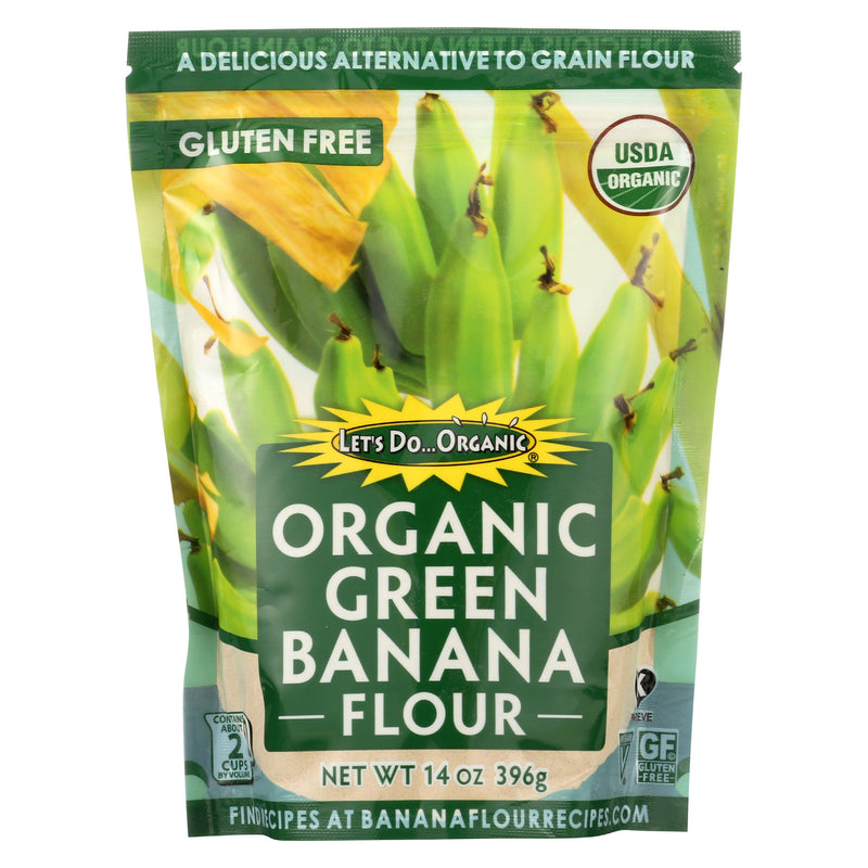 Let's Do Organic Organic Flour - Green Banana - Case of 6 - 14 oz