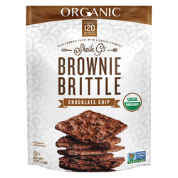 Sheila G's Organic Brownie Brittle - Chocolate Chip - Case of 12 - 5 oz.