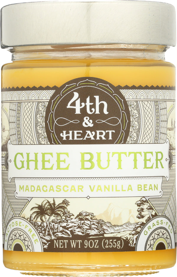 4th and Heart - Ghee Butter - Madagascar Vanilla Bean - Case of 6 - 9 oz.