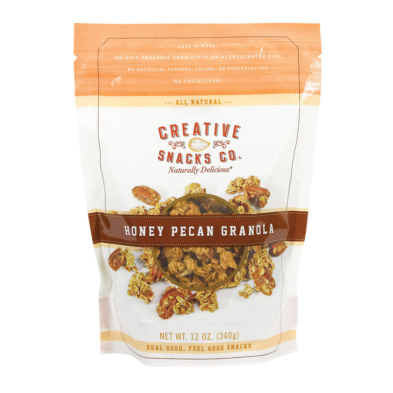 Creative Snacks - Granola - Honey Pecan - Case of 6 - 12 oz