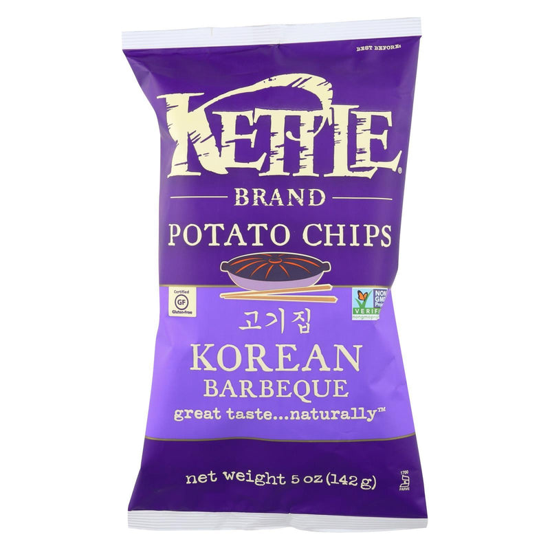 Kettle Brand Potato Chips - Korean Barbeque - Case of 15 - 5 oz.