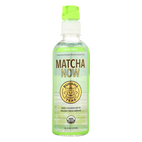 Buddha Teas - Organic Tea - Matcha - Lightly Sweet - Case of 12 - 12 fl oz.