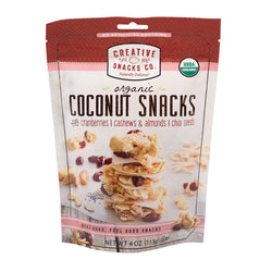 Creative Snacks - Bag - Coconut - Cranberry Nut - Case of 12 - 4 oz