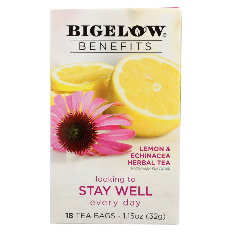 Bigelow Tea Tea - Lemon Echinacea - Stay Well - Case of 6 - 18 BAG