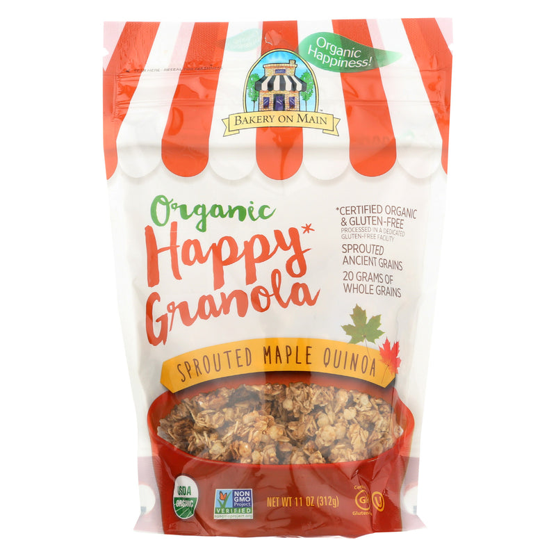 Bakery On Main Organic Happy Granola - Sprouted Maple Quinoa - Case of 6 - 11 oz