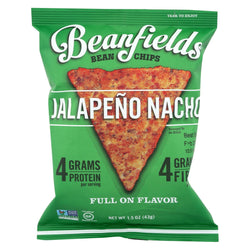 Beanfields - Bean and Rice Chips - Jalapeo Nacho - Case of 24 - 1.50 oz.