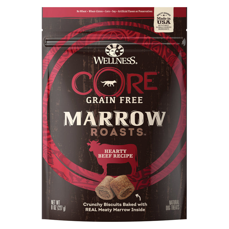 Wellness Core Dog Food - Marrow Roasts Hearty Beef Recipe - Case of 8 - 8 oz.