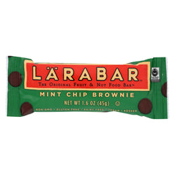 Larabar Fruit and Nut Bar - Mint Chip Brownie - Case of 16 - 1.6 oz