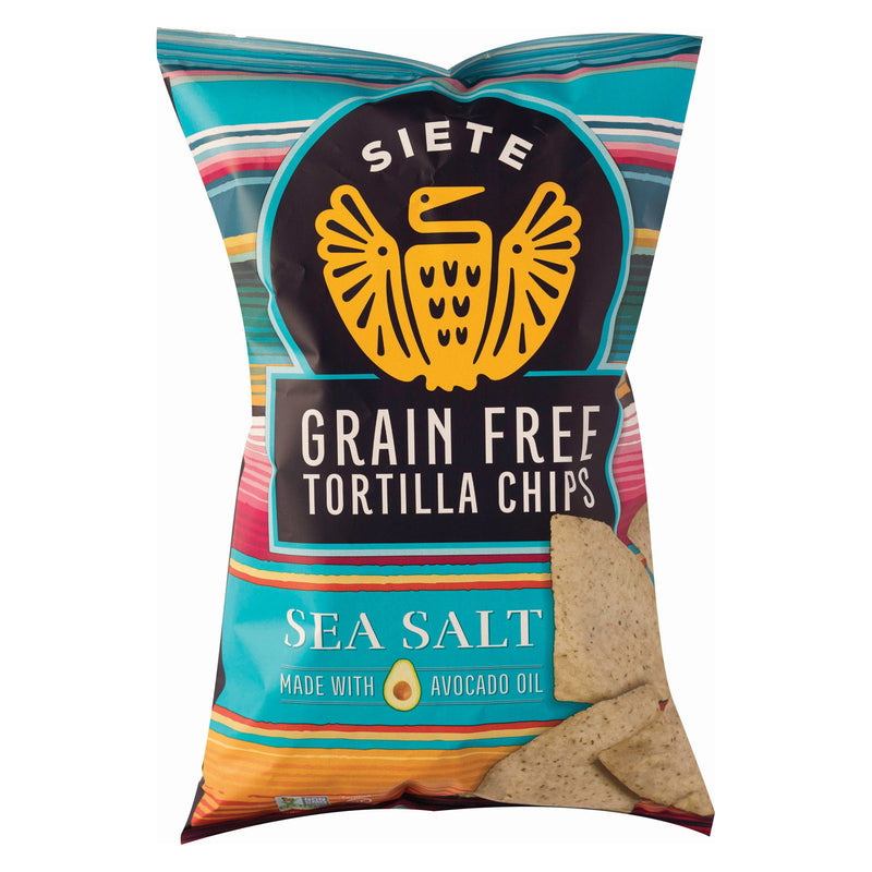 Siete Tortilla Chip - Sea Salt - Case of 12 - 5 oz