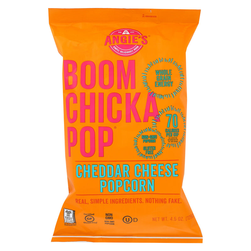 Angie's Kettle Corn Popcorn - Boom Chicka Pop - Cheddar - Case of 12 - 4.5 oz