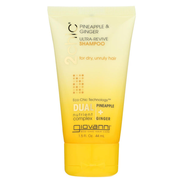 Giovanni Hair Care Products Shampoo - Pineapple and Ginger (Travel Size) - Case of 12 - 1.5 fl oz.
