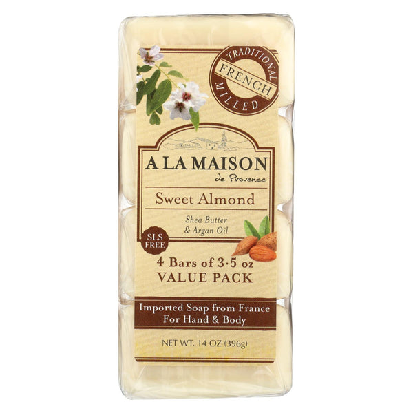 A La Maison - Bar Soap - Sweet Almond - 4/3.5 Oz