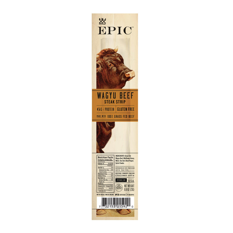 Epic - Strips - Wagyu Beef Steak - Case of 20 - .8 oz