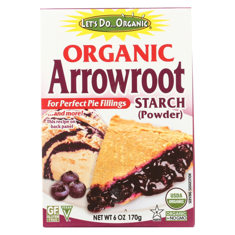 Let's Do Organic - Organic Arrowroot Starch - Case of 6 - 6 oz.