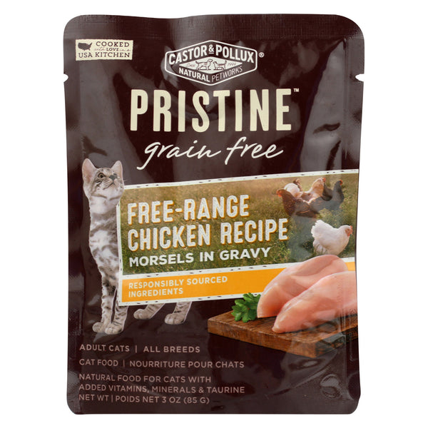 Castor and Pollux Cat - Chicken Morsels - Grain Free - Case of 24 - 3 oz