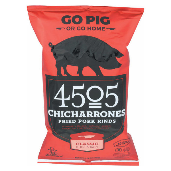 4505 - Pork Rinds - Chicharones - Chili - Salt - Case of 12 - 2.5 oz