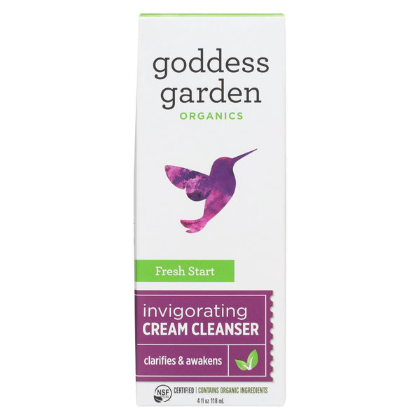 Goddess Garden Fresh Start Gentle Cream Cleanser - Case of 4 - 4 fl oz.